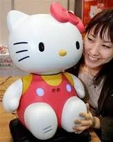 hello kitty robot receptionist