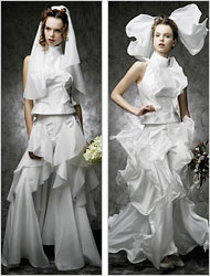 zero gravity wedding dress