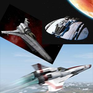 Battlestar Galactica ships
