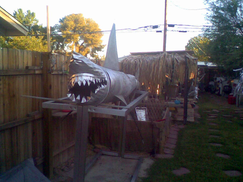 Robot art, giant shark named Jenny