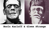 Boris Karloff and Glenn Strange