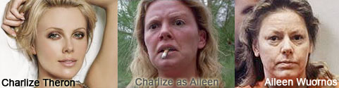 Charlize Theron transformationed into Aileen Wuornos