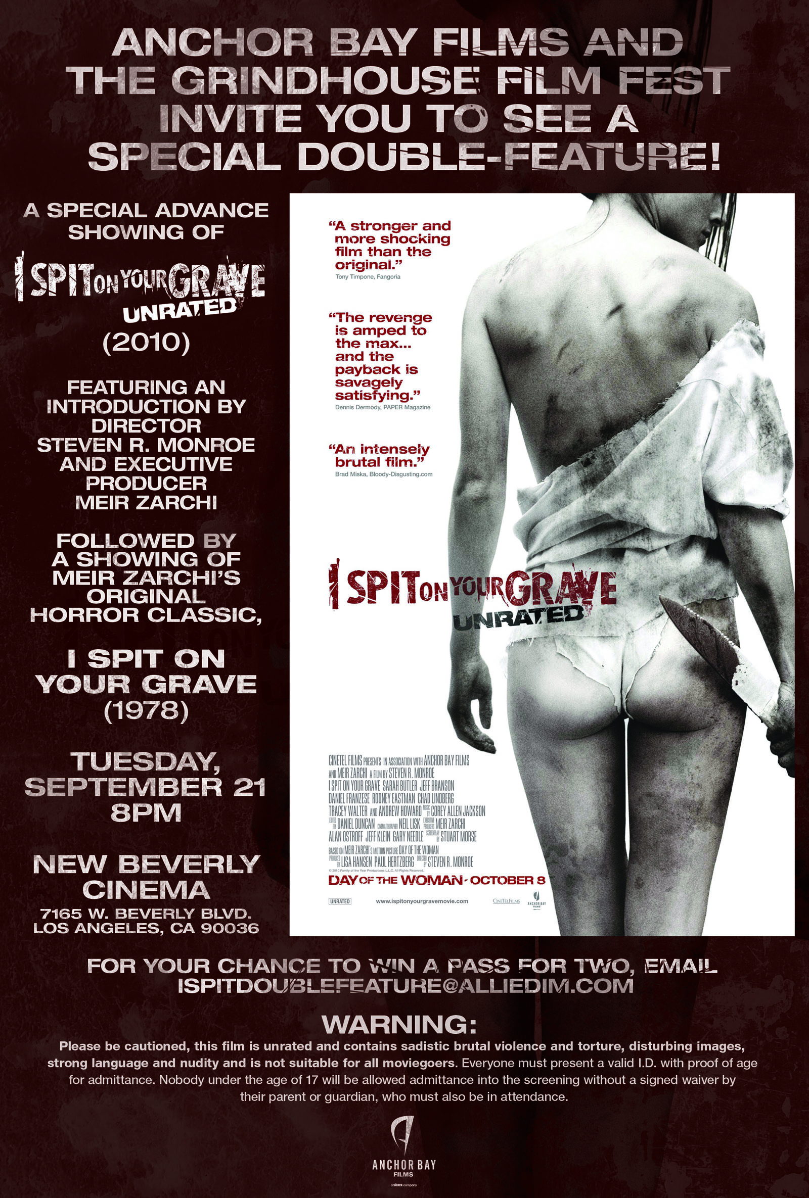I Spit on Your Grave Advanced Screening