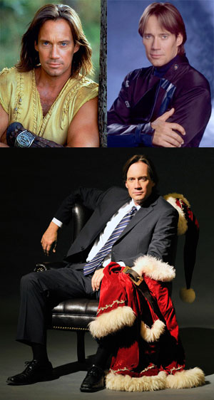 Kevin Sorbo in Hercules, Andromeda and The Santa Suit