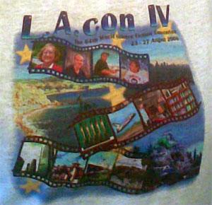Closeup of the Worldcon t-shirt artwork