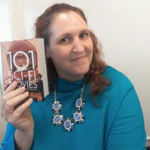 Carma, The Genre Traveler, with the book 101 Sci-Fi Movies